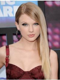 """Lace Front Varig Remy Hår 20"""" Blond Lang Taylor Swift Parykk"""