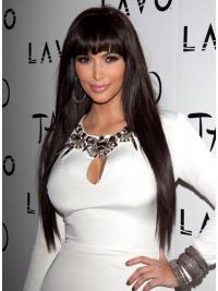 "Lace Front Rett Brun Ny 26"" Kim Kardashian Parykk"
