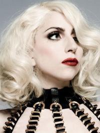"""Krøllete 14"""" Utrolig Syntetisk Halv Lengde Lady Gaga Parykk"""