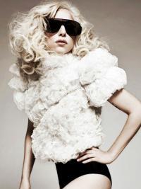"""Krøllete 18"""" Frekk Syntetisk Lang Lady Gaga Parykk"""