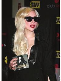 "Bølgete 20"" Vakker Remy Hår Blond Lang Lady Gaga Parykk"