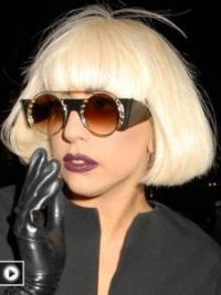 "Rett 10"" Fleksibilitet Syntetisk Blond Halv Lengde Lady Gaga Parykk"