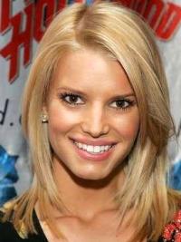 """Rett 12"""" Blond Halv Lengde 100% Håndknyttet Utsøkt Jessica Simpson Parykk"""