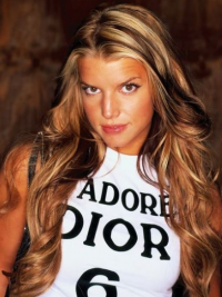 """Blond 26"""" Ideell Remy Hår Lang Lace Front Jessica Simpson Parykk"""