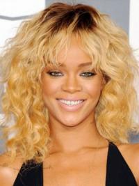 """Maskinknyttet Krøllete 14"""" Gorgeous Syntetisk Rihanna Parykk"""