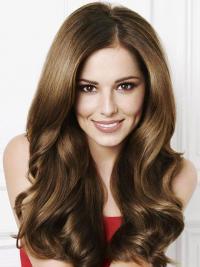 "Brun Stilig 20"" Bølgete Maskinknyttet Cheryl Cole Parykk"