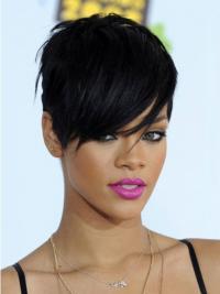 """Maskinknyttet Rett 6"""" Rabatt Syntetisk Rihanna Parykk"""