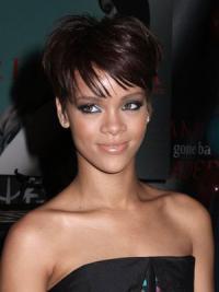 "Maskinknyttet Rett 6"" Passende Syntetisk Rihanna Parykk"