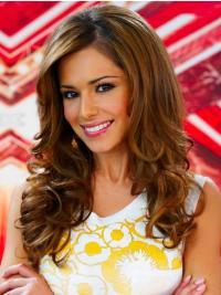 "Brun Trendy 20"" Krøllete Maskinknyttet Cheryl Cole Parykk"