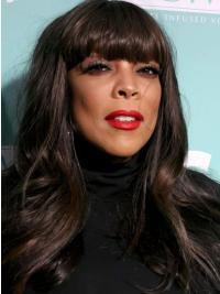 "Svart Lang Med Smell 20"" Lace Front Designet Wendy Williams Parykk"