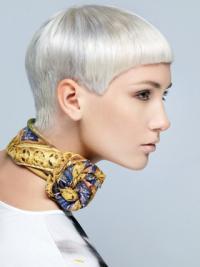 "Syntetisk Kort Rett Lace Front Stil 8"" Fashion Parykk"